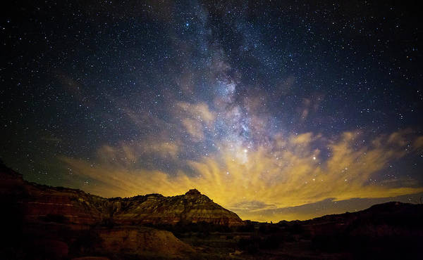 Grand Hotel Photograph - Fiery Night In Palo Duro by Stephen Stookey