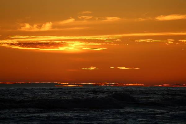 Photograph - Fiery Ocean Sunset - 4 by Christy Pooschke