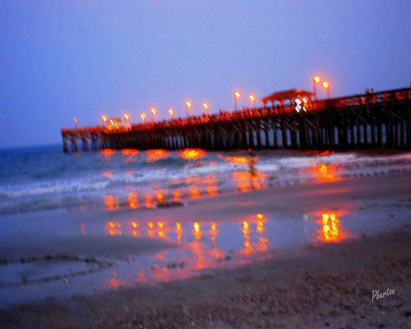Photograph - Fiery Pier by Phil Burton