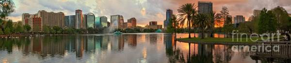 Photograph - Fiery Reflections Of Orlando by Adam Jewell