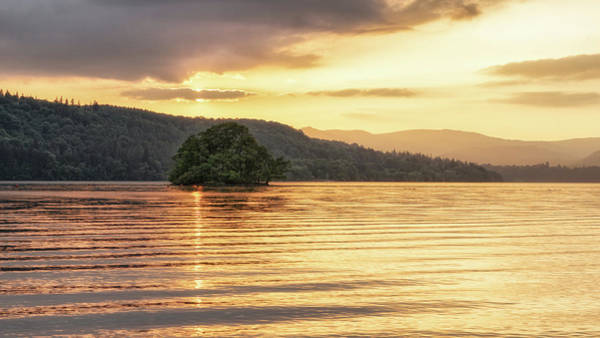 Photograph - Fiery Sky In The Lakes by James Billings