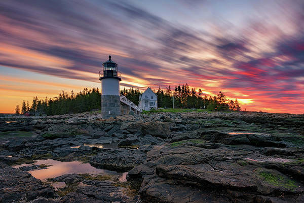 Photograph - Fiery Sunrise At Marshall Point by Rick Berk