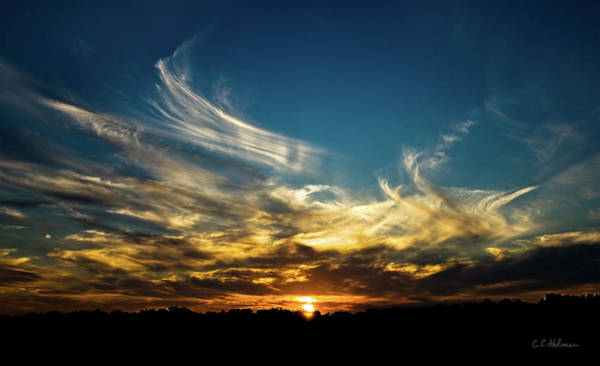Photograph - Fiery Sunset by Christopher Holmes