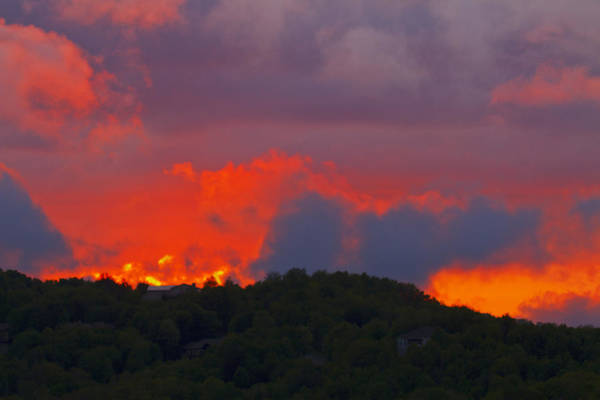 Photograph - Fiery Sunset by Ken Barrett