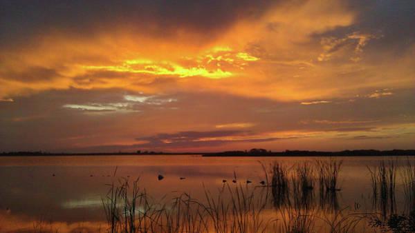 Photograph - Fiery Sunset by Liza Eckardt