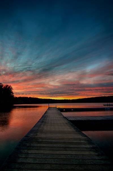Cachalot Wall Art - Photograph - Fiery Sunset Over Five Mile by Dennis Wilkinson