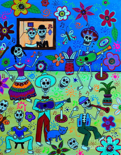 Painting - Fiesta Calaveras IIi by Pristine Cartera Turkus