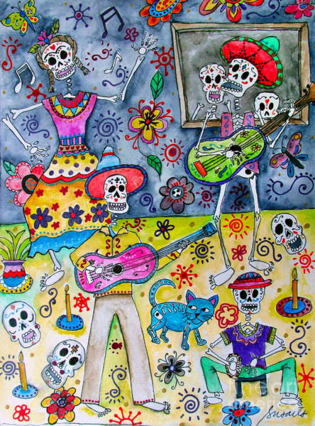 Painting - Fiesta Calaveras by Pristine Cartera Turkus