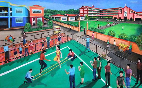 Painting - Fiesta Ko Sa Houston by Cyril Maza
