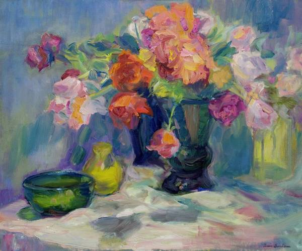 Painting - Fiesta Of Flowers - Vibrant Original Impressionist Oil Painting by Quin Sweetman