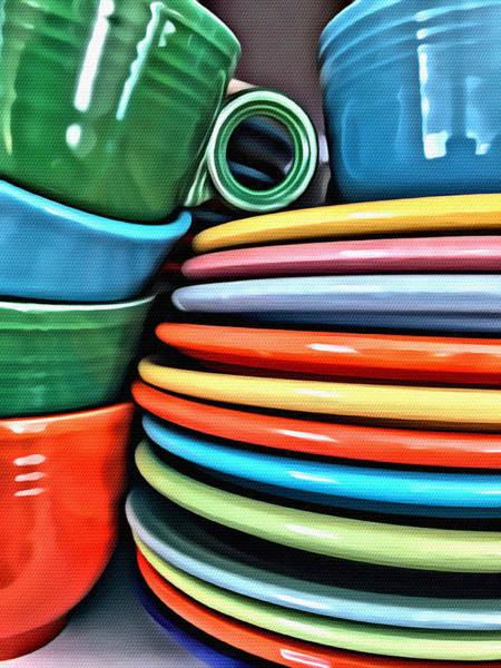Hells Kitchen Wall Art - Photograph - Fiesta Ware by Modern Art