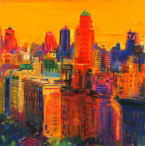 Manhattan Skyline Painting - Fifth And Madison by Peter Graham