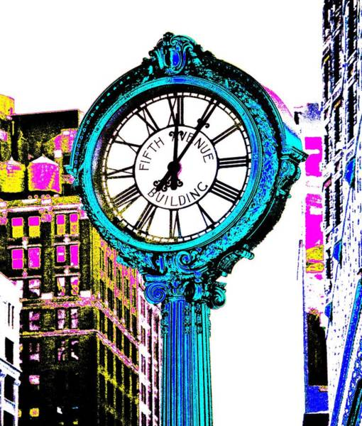 Photograph - Fifth Avenue Building Clock New York  by Marianna Mills