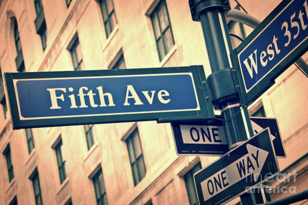 Wall Art - Photograph - Fifth Avenue by Delphimages Photo Creations