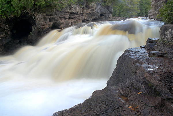 Photograph - Fifth Falls Gooseberry River by Larry Ricker