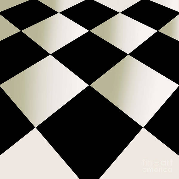 Wall Art - Painting - Fifties Kitchen Checkerboard Floor by Mindy Sommers