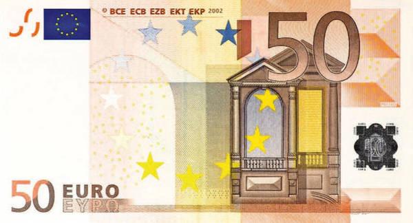Digital Art - Fifty Euro Bill by Serge Averbukh