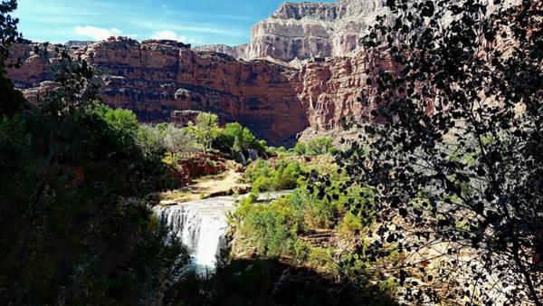Photograph - Fifty Falls And Havasupai Falls Havasupai Indian Reservation by Joseph Hendrix