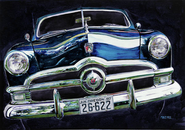 Collector Car Painting - Fifty Ford by Mike Hill