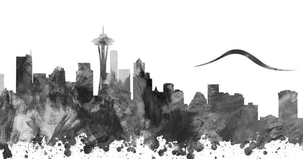 Wall Art - Digital Art - Fifty Shades Of Seattle Grey by Ricky Barnard