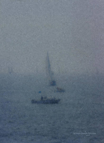 Painting - Figawi Race Fogbound by Bill McEntee