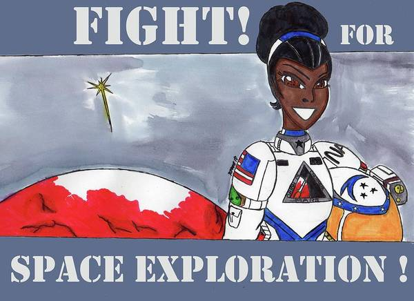 Space Exploration Mixed Media - Fight For Space Exploration by Ronald Woods