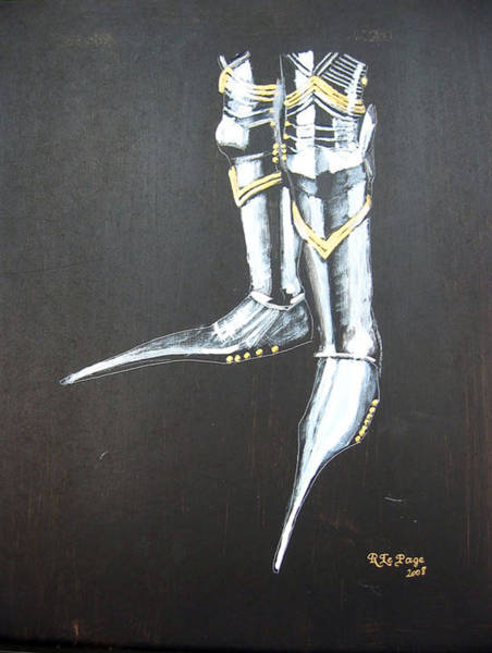 Painting - Fighting Boots by Richard Le Page