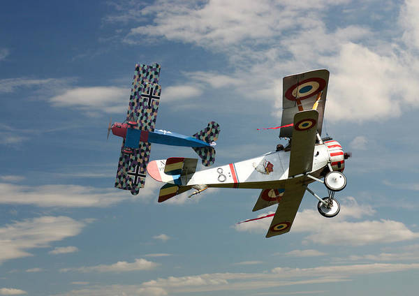 Wall Art - Photograph - Fighting Colours 2 - Fokker D. Vll - Nieuport by Pat Speirs