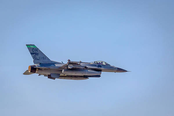 Photograph - Fighting Falcons F-16 Ohio Air National Guard by Jack R Perry