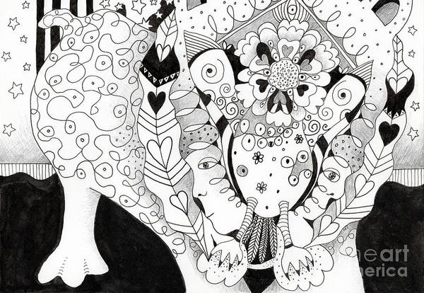 Figments Of Imagination - The Beast Art Print