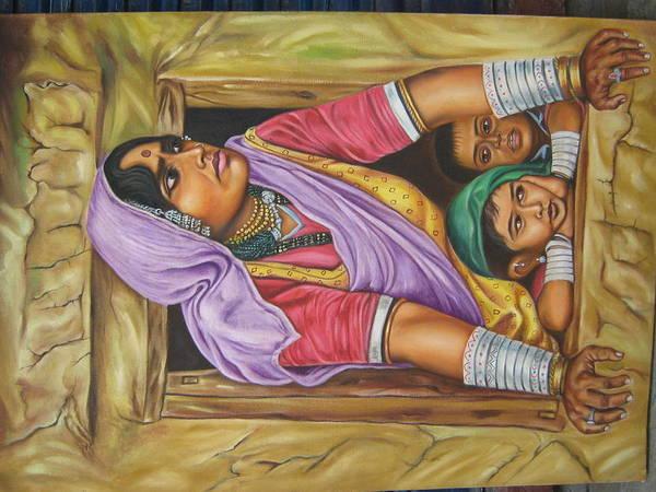 Wall Art - Painting - Figrative Scene by Gayatri Maheshwari