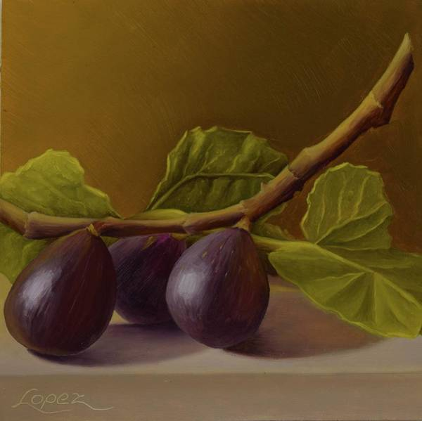 Wall Art - Painting - Figs From Walter's Orchard by Gema Lopez