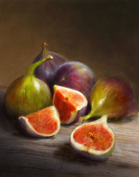 Still Life Wall Art - Painting - Figs by Robert Papp