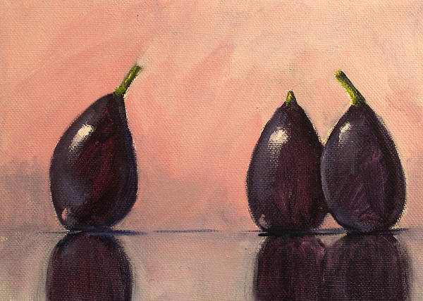 Wall Art - Painting - Figs Still Life Painting by Nancy Merkle