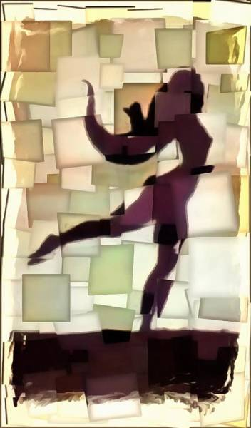 Projection Digital Art - Figurative Dancer by Mario Carini