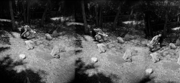 Photograph - Figurative Holga Tryptich 4 by Catherine Sobredo