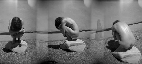 Photograph - Figurative Holga Tryptich 5 by Catherine Sobredo