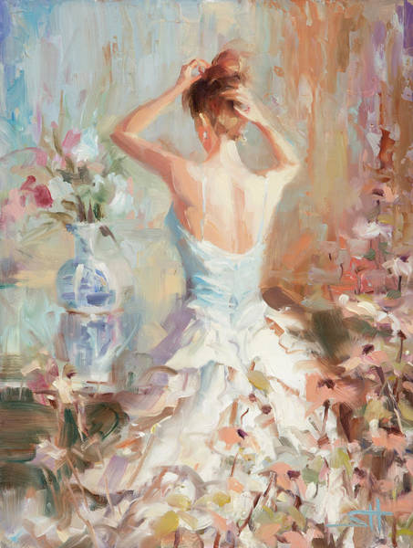 Romantic Flower Wall Art - Painting - Figurative II by Steve Henderson