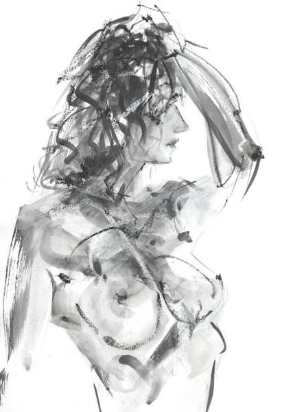 Goose Drawing - Rcnpaintings.com by Chris N Rohrbach