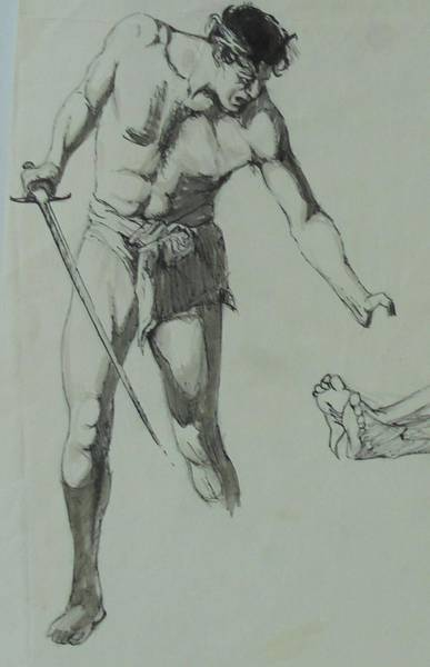 Figure Drawing 1961. Art Print