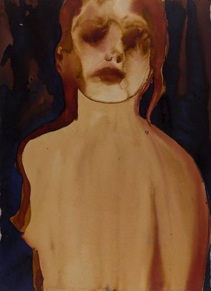 Sepia Painting - Figure by Graham Dean