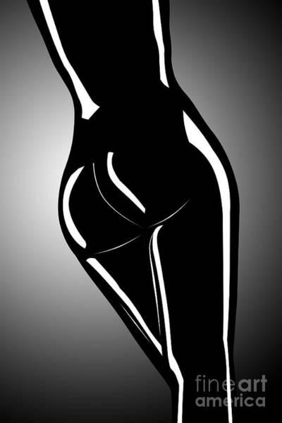 Wall Art - Digital Art - Figure In Black And White by Tim Hightower