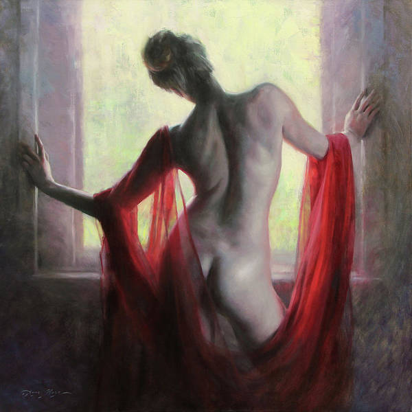 Female Figure Painting - Figure In Red by Anna Rose Bain