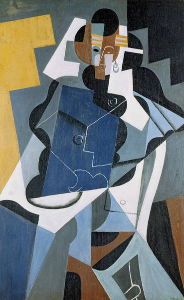 Wall Art - Painting - Figure Of A Woman by Juan Gris
