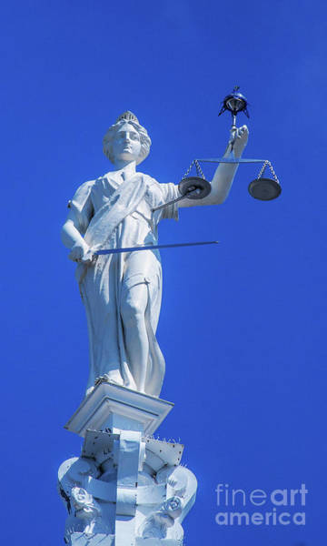 Clarion Photograph - Figure Of Justice Clarion by Randy Steele