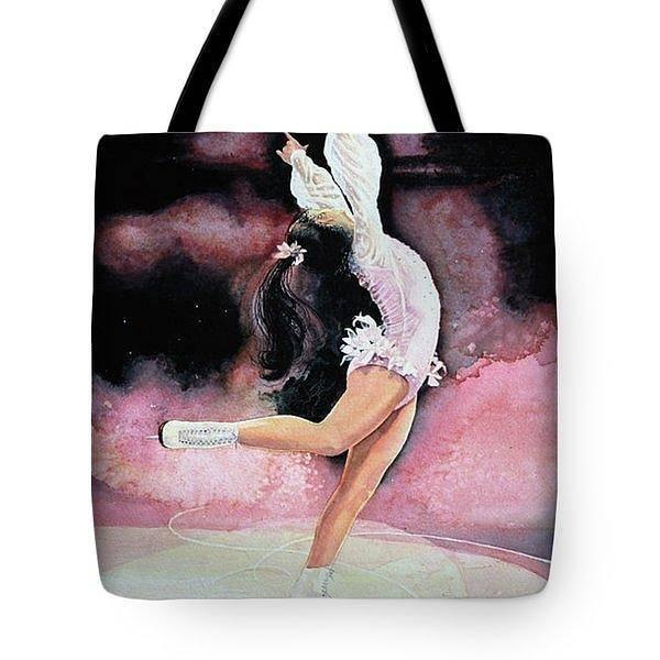 Figure Skating Painting - Figure Skater Tote Bag by Hanne Lore Koehler