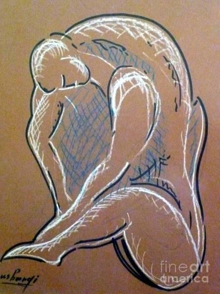 Figure Art Print by Ushangi Kumelashvili