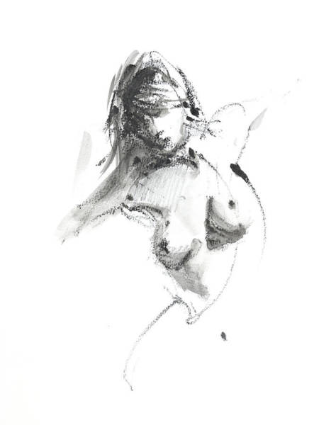 Nude Woman Drawing - Rcnpaintings.com by Chris N Rohrbach