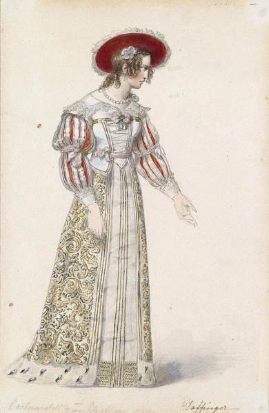 Figurine In Medieval Dress, Art Print