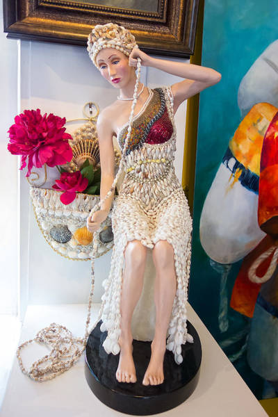 Photograph - Figurine With Shell Dress - Y1 by Carlos Diaz